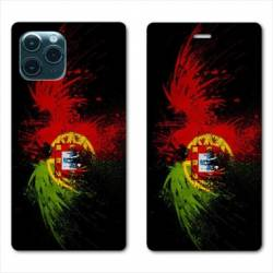"RV Housse cuir portefeuille Iphone 11 Pro Max (6,5"") Portugal Aigle"