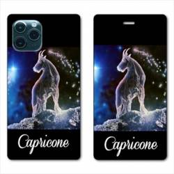 "RV Housse cuir portefeuille Iphone 11 Pro Max (6,5"") signe zodiaque Capricorne2"