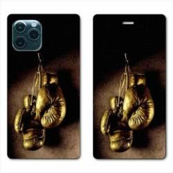 """RV Housse cuir portefeuille Iphone 11 Pro Max (6,5"""") Boxe gant vintage"""