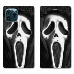 "RV Housse cuir portefeuille Iphone 11 Pro Max (6,5"") Scream noir"