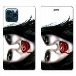 """RV Housse cuir portefeuille Iphone 11 Pro Max (6,5"""") Vampire blanc"""