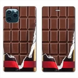 "RV Housse cuir portefeuille Iphone 11 Pro Max (6,5"") Trompe œil chocolat"