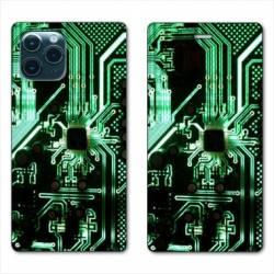 """RV Housse cuir portefeuille Iphone 11 Pro Max (6,5"""") Trompe œil composant"""