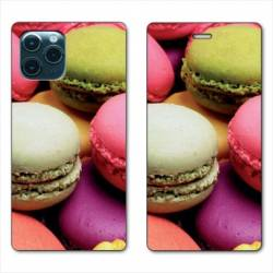 "RV Housse cuir portefeuille Iphone 11 Pro Max (6,5"") Macaron"