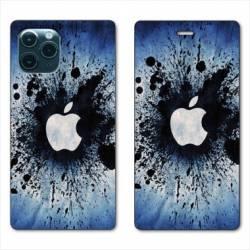"""RV Housse cuir portefeuille Iphone 11 Pro Max (6,5"""") Pomme éclaboussure"""
