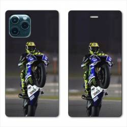 "RV Housse cuir portefeuille Iphone 11 Pro Max (6,5"") Moto Wheeling"
