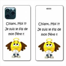 "RV Housse cuir portefeuille Iphone 11 Pro Max (6,5"") Humour Moi chiant"