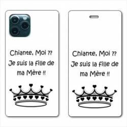 "RV Housse cuir portefeuille Iphone 11 Pro Max (6,5"") Humour Moi chiante"