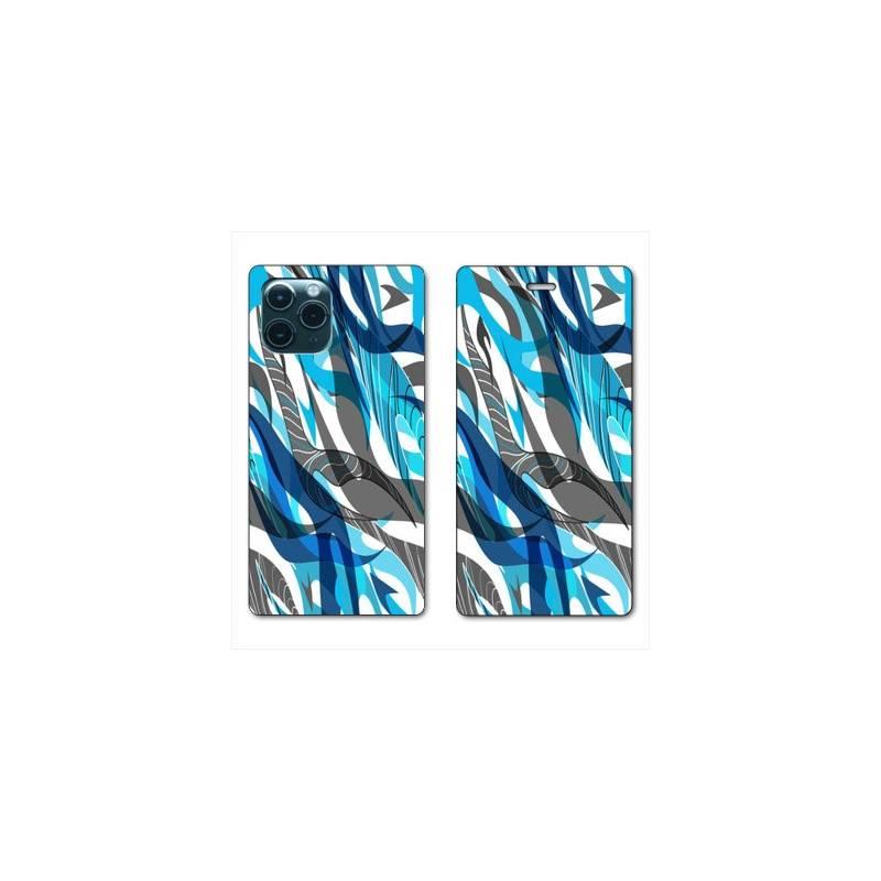 """RV Housse cuir portefeuille Iphone 11 Pro Max (6,5"""") Etnic abstrait Algue"""