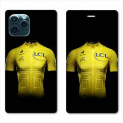 "RV Housse cuir portefeuille Iphone 11 Pro Max (6,5"") Cyclisme Maillot jaune"