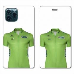 "RV Housse cuir portefeuille Iphone 11 Pro Max (6,5"") Cyclisme Maillot vert"
