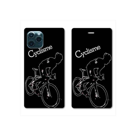 """RV Housse cuir portefeuille Iphone 11 Pro Max (6,5"""") Cyclisme Ombre blanche"""