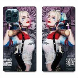 "RV Housse cuir portefeuille Iphone 11 Pro Max (6,5"") Harley Quinn Batte"