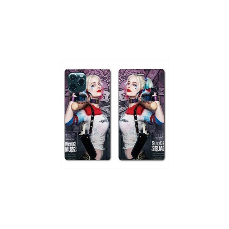 """RV Housse cuir portefeuille Iphone 11 Pro Max (6,5"""") Harley Quinn Batte"""