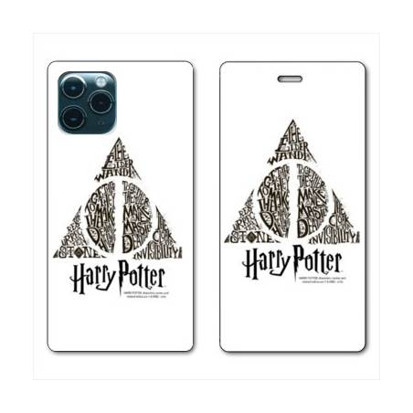 """RV Housse cuir portefeuille Iphone 11 Pro Max (6,5"""") WB License harry potter pattern triangle Blanc"""