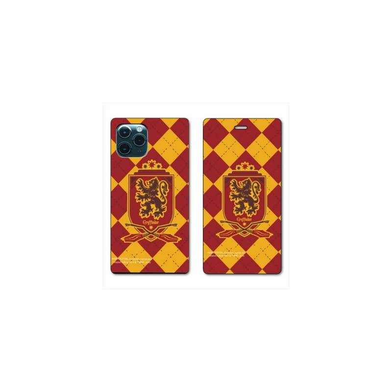"""RV Housse cuir portefeuille Iphone 11 Pro Max (6,5"""") WB License harry potter ecole Griffindor"""