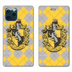 "RV Housse cuir portefeuille Iphone 11 Pro Max (6,5"") WB License harry potter ecole Hufflepuff"