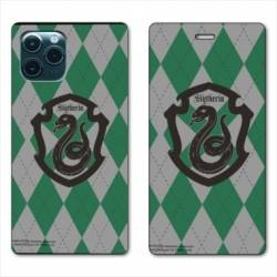 "RV Housse cuir portefeuille Iphone 11 Pro Max (6,5"") WB License harry potter ecole Slytherin"