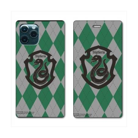 """RV Housse cuir portefeuille Iphone 11 Pro Max (6,5"""") WB License harry potter ecole Slytherin"""