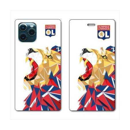 """RV Housse cuir portefeuille Iphone 11 Pro Max (6,5"""") License Olympique Lyonnais OL - lion color"""