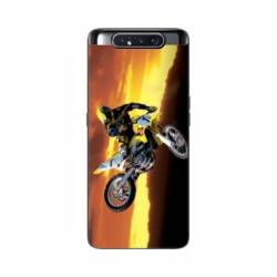 Coque Samsung Galaxy A80 Moto Cross Noir