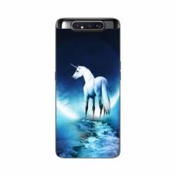 Coque Samsung Galaxy A80 Licorne Lune