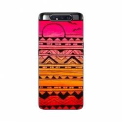 Coque Samsung Galaxy A80 motifs Aztec azteque soleil