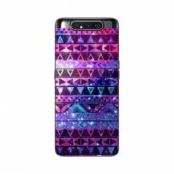 Coque Samsung Galaxy A80 motifs Aztec azteque violet