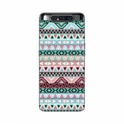Coque Samsung Galaxy A80 motifs Aztec azteque turquoise