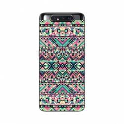 Coque Samsung Galaxy A80 motifs Aztec azteque rose