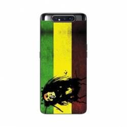 Coque Samsung Galaxy A80 Bob Marley Drapeau