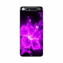 Coque Samsung Galaxy A80 fleur hibiscus violet