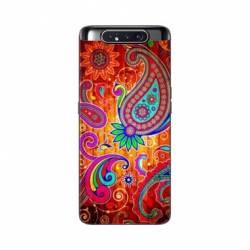Coque Samsung Galaxy A80 fleur psychedelic