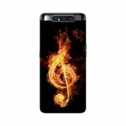 Coque Samsung Galaxy A80 Musique clé sol feu N