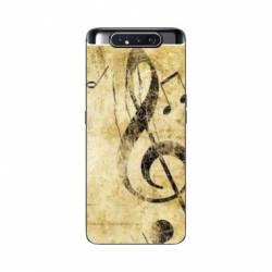 Coque Samsung Galaxy A80 Musique clé sol vintage