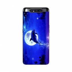 Coque Samsung Galaxy A80 Dauphin lune