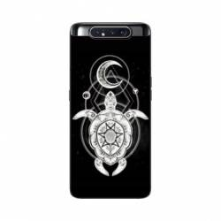Coque Samsung Galaxy A80 Animaux Maori Tortue noir