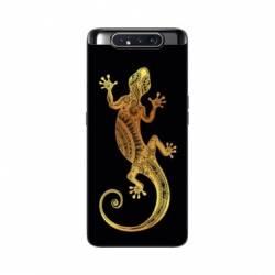 Coque Samsung Galaxy A80 Animaux Maori lezard noir
