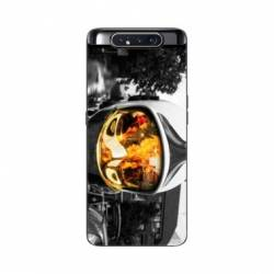 Coque Samsung Galaxy A80 pompier casque feu