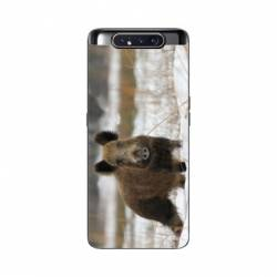 Coque Samsung Galaxy A80 chasse sanglier Neige