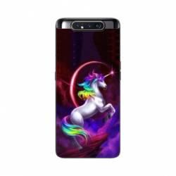 Coque Samsung Galaxy A80 Licorne Arc en ciel