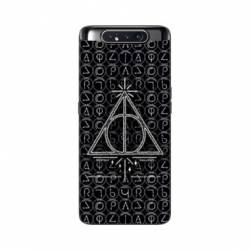 Coque Samsung Galaxy A80 WB License harry potter pattern triangle noir