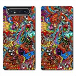 Housse cuir portefeuille Samsung Galaxy A80 Psychedelic Yeux