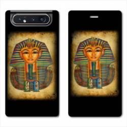 Housse cuir portefeuille Samsung Galaxy A80 Egypte Pharaon