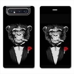 Housse cuir portefeuille Samsung Galaxy A80 Decale Mafia
