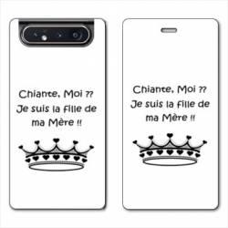 Housse cuir portefeuille Samsung Galaxy A80 Humour Moi chiante