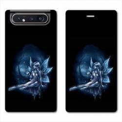 Housse cuir portefeuille Samsung Galaxy A80 Fee Bleu