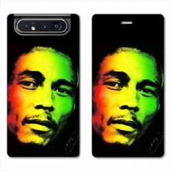 Housse cuir portefeuille Samsung Galaxy A80 Bob Marley 2