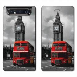 Housse cuir portefeuille Samsung Galaxy A80 Angleterre London Bus