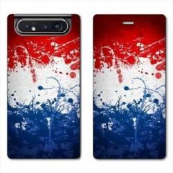 Housse cuir portefeuille Samsung Galaxy A80 France Eclaboussure